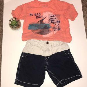 Gap boys t-shirt and short set.  Size 5
